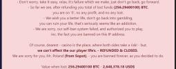 Szwedzkie kasyno kryptowalut, świadome błędu - oddało pieniądze graczowi.
